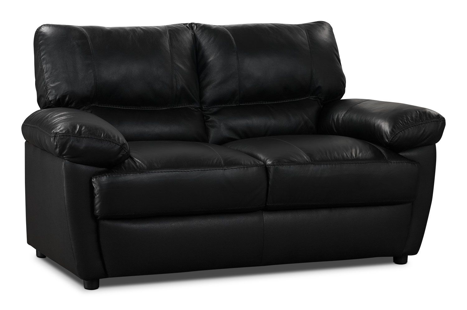 This Stunning Tess Loveseat Is Elegance Personified Using Exceptional Hand In Glove Tailoring Each Seat An Genuine Leather Sofa Black Leather Sofas Love Seat