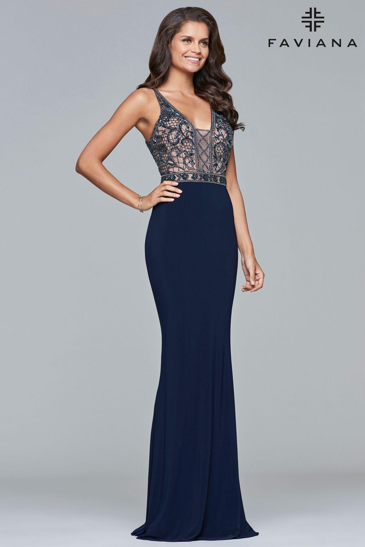 Faviana Dress 7912   PeachesBoutique.com