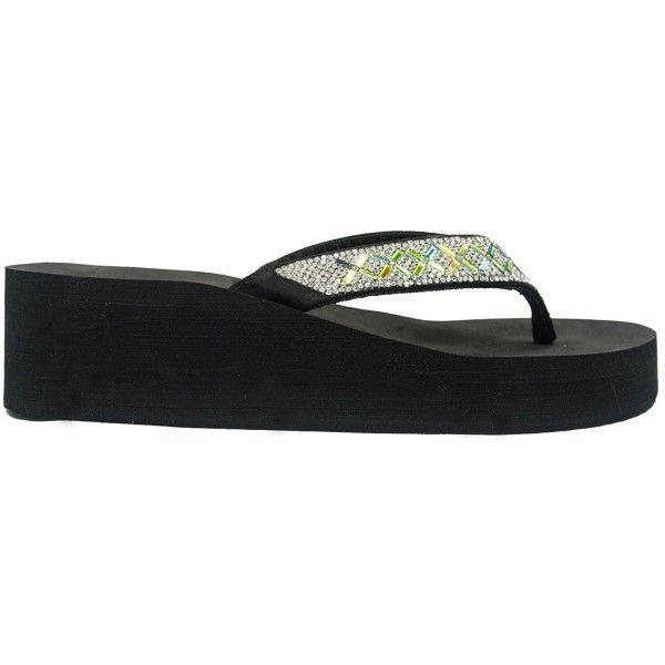 e3e103b197a Women s Rhinestone EVA Platform Flip Flop Sandal - Shine ...