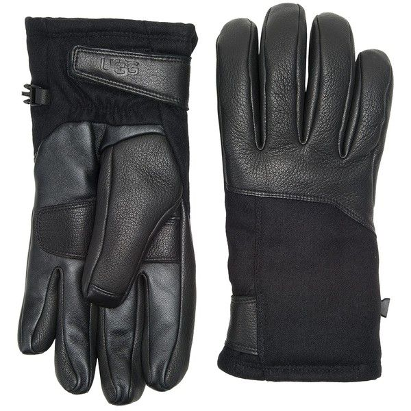 UGG Performance Gloves (Black) Extreme Cold Weather Gloves ($130) ❤ liked on Polyvore featuring men's fashion, men's accessories, men's gloves, men…