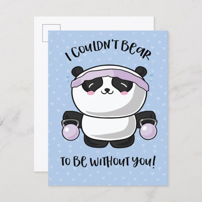 iphone wallpaper coffee Be Without you Cute Kawaii Panda Valentines Day Holiday Postcard