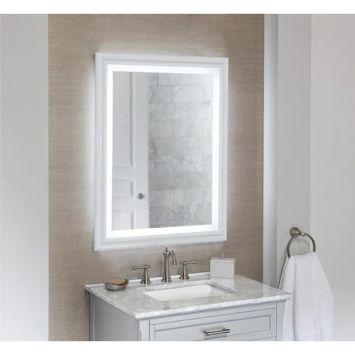 Style Selections Project Source 28 In White Rectangular Lighted
