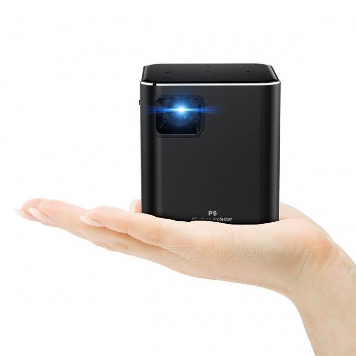 ORIMAG P6 Portable Mini DLP LED HD Wi-Fi Projector - Black (EU Plug)