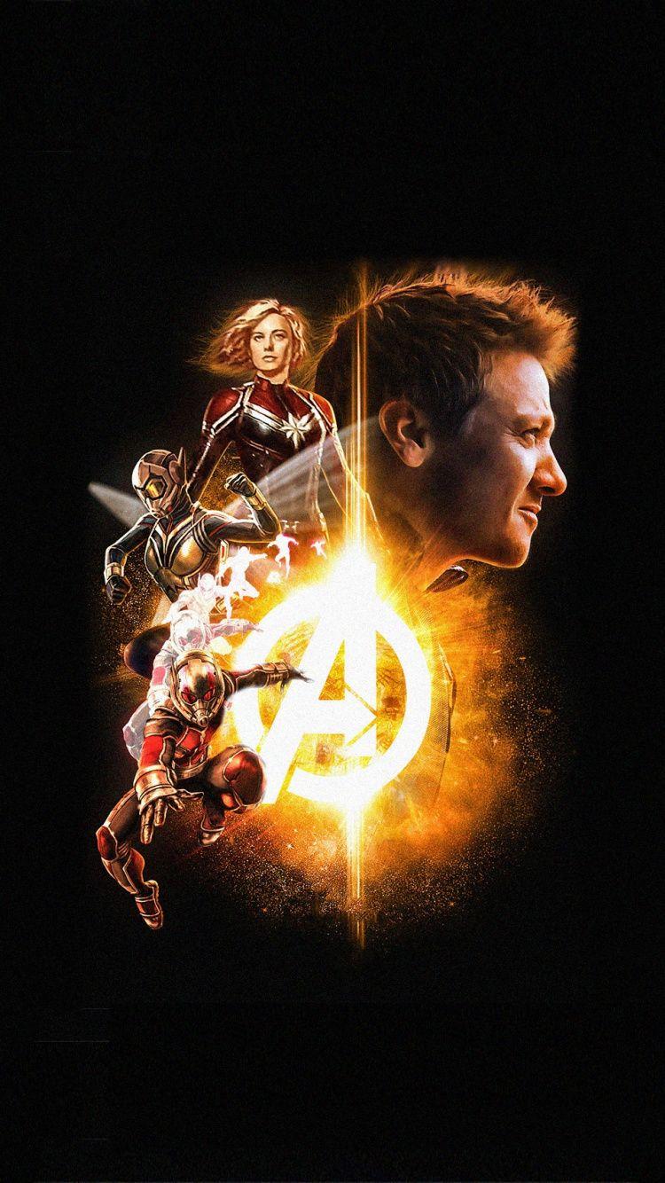 Avengers 4 Superheroes Captain Marvel Ant Man Poster Wallpaper