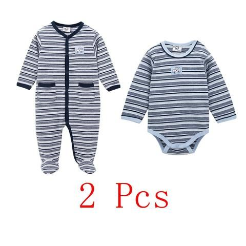 913c05039 KAVKAS Summer Baby Clothing Clothes bodysuits Long Sleeve Coveralls ...