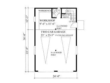 1st Floor Plan 2 car garage with loft