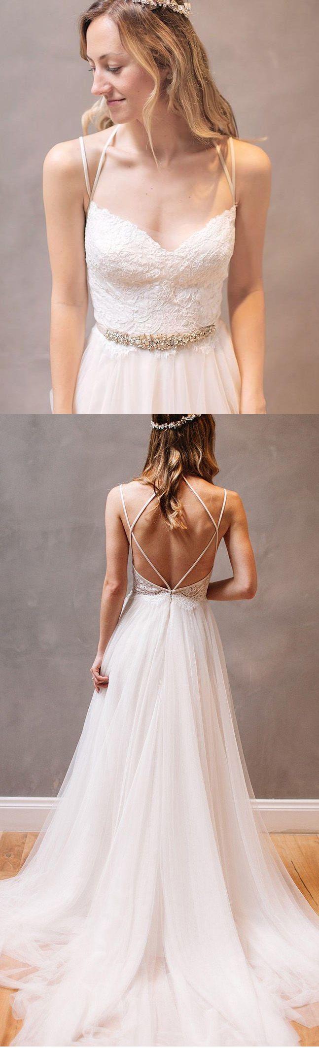 Hot Sale A-line/Princess Wedding Dresses Long White Dresses With ...