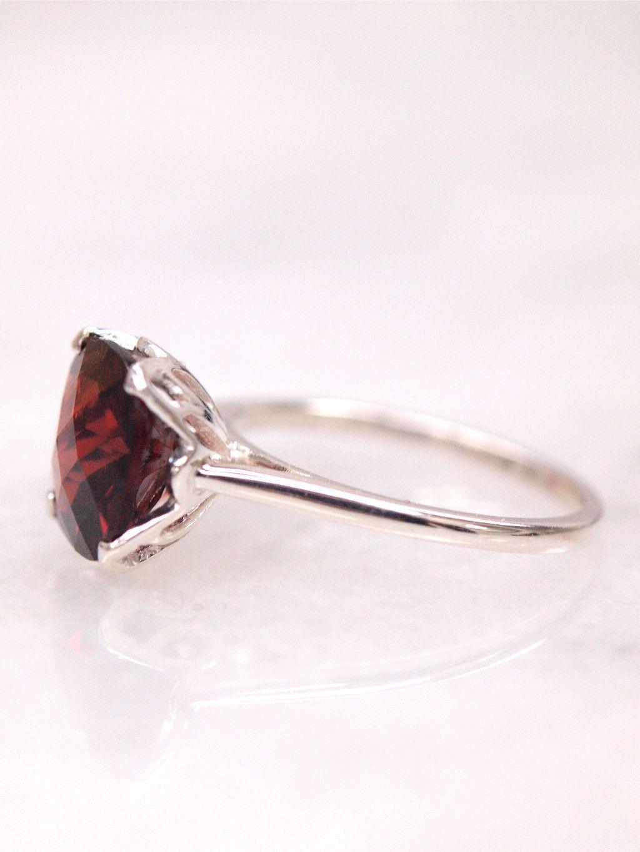 Rosellen Garnet Ring