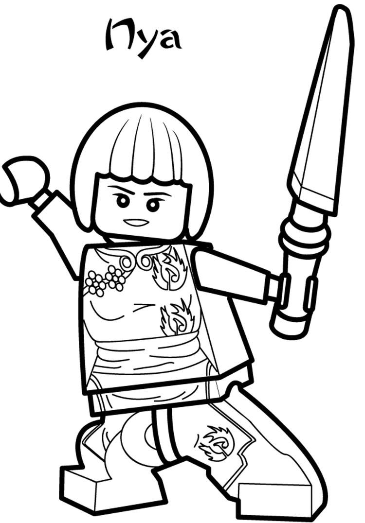 Nya Ninjago Coloring Pages Lego coloring pages, Lego