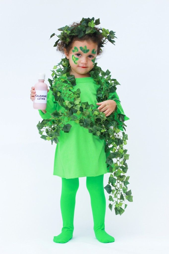 child in poison ivy costume
