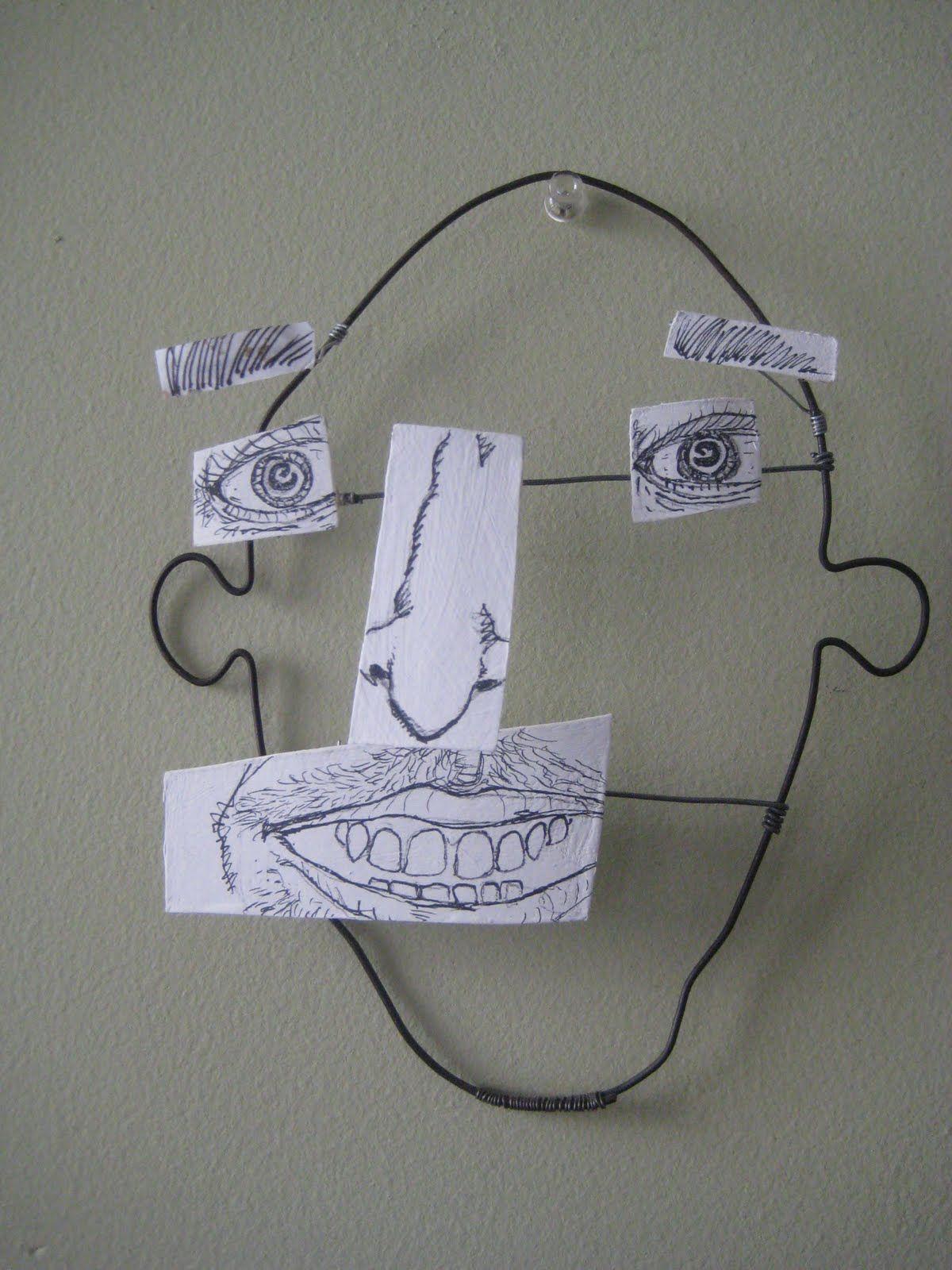Rostro Humano Escultura Alambre | Esculturas de Alambre | Pinterest ...