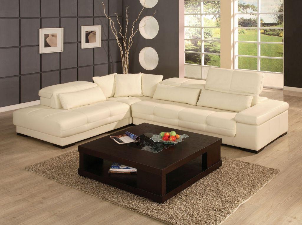 nice white leather sectional living room ideas with regard ...
