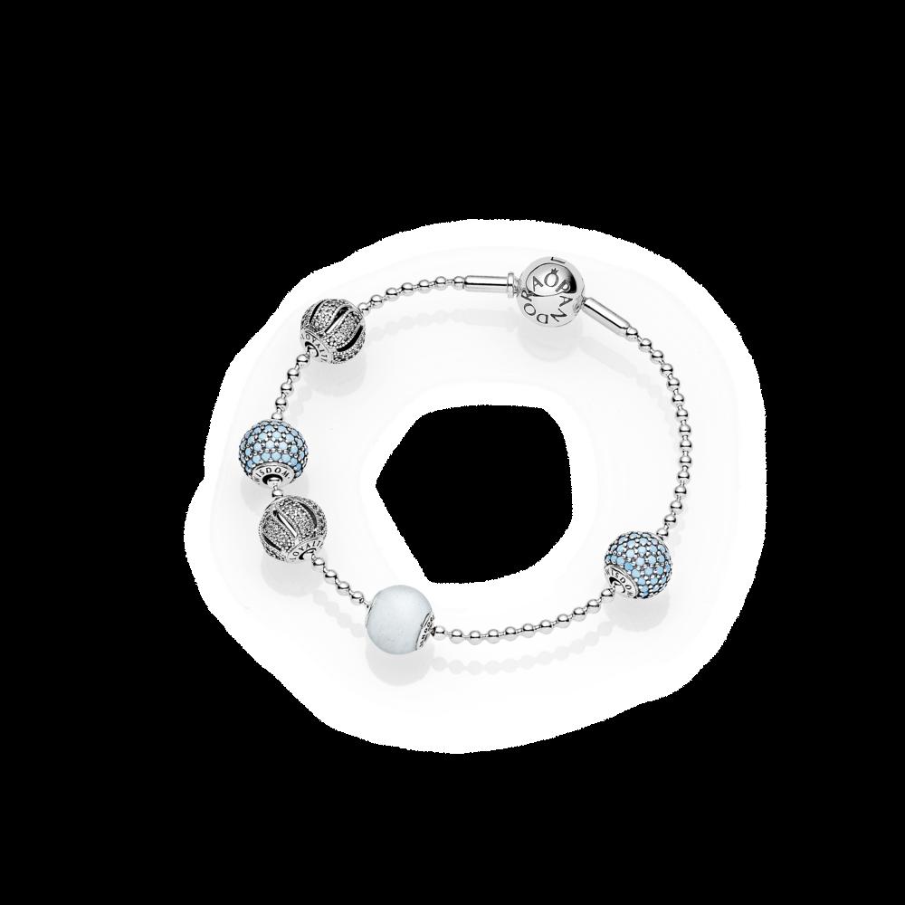 8dab4860c ESSENCE Silver Ball Chain Bracelet - Pandora UK | PANDORA eSTORE ...