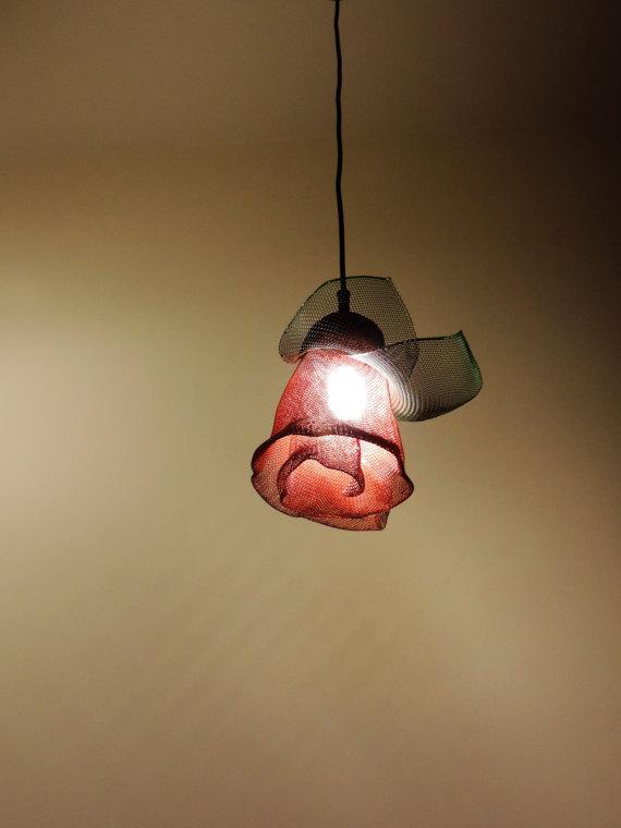 Pendant Lighting Lamp Art Wire Sculpture Art Metal Sculpture Lamp Metal Art Lamp Rose Lamp Lamp Shade Art And Craft Mesh Lamp Shade Antique Lamp Shades Wall Lamp Shades Creative Lamp