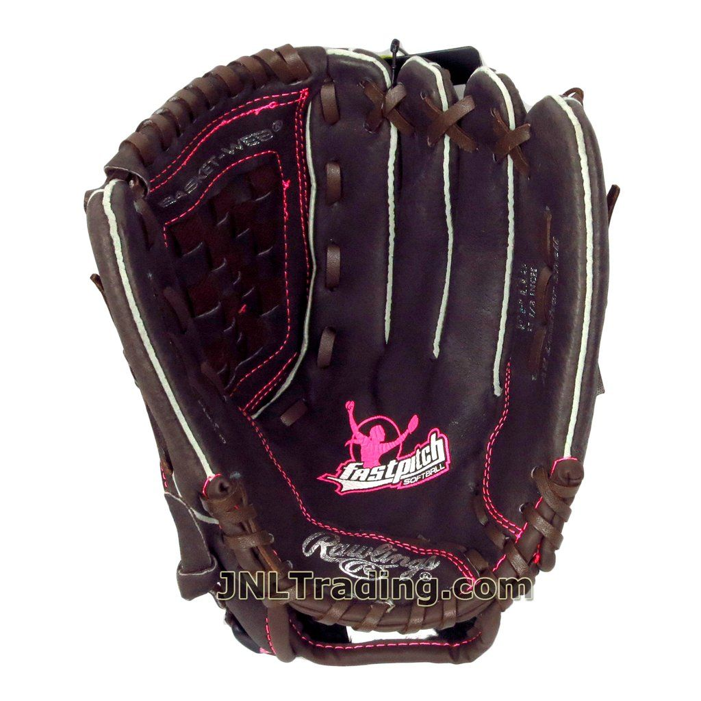 Rawlings Fastpitch The Mark Of A Pro The Gold Glove Series Leather Softball Glove Mitt 11 1 2 Inch Fp115 Right Hand Throw Left Hand Catch Youth Size Regular Softball Gloves Gold Gloves Softball