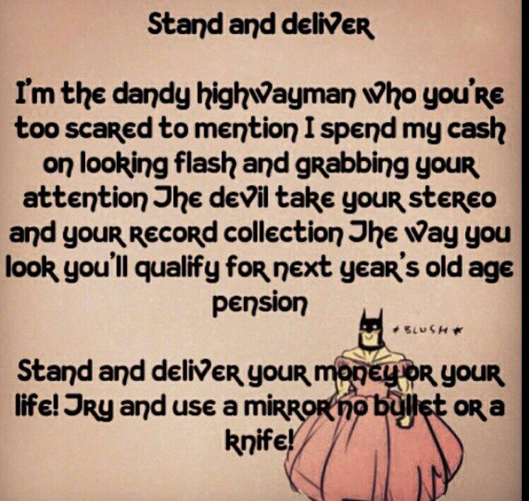 Adam & the ants - stand and deliver lyrics - YouTube