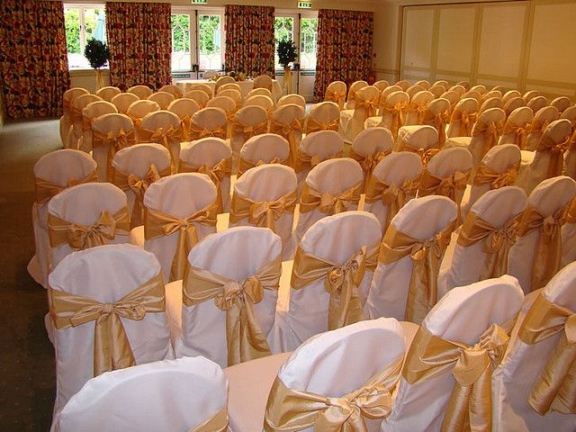 Gold Bow Wedding Chair Chair Covers Wedding Ivory Chair Chair