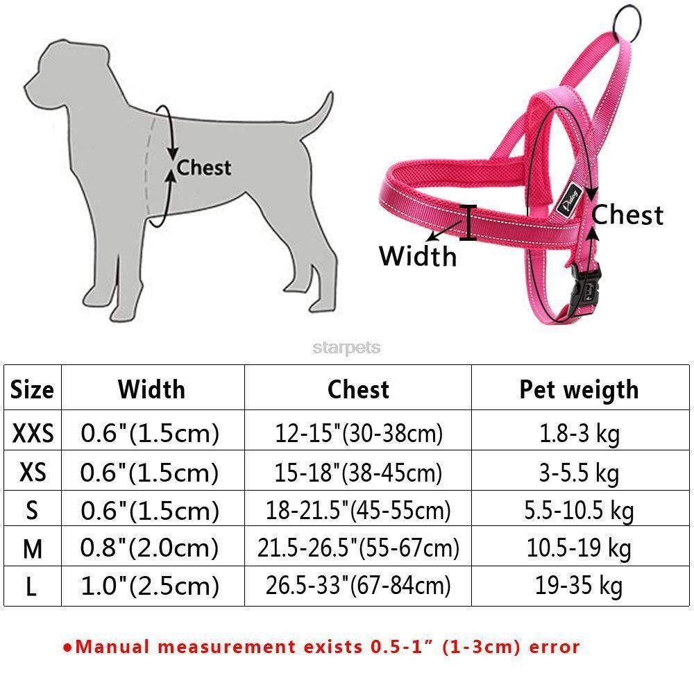 No Pull Quick Fit Reflective Stitching Dog Harness Dog Harness