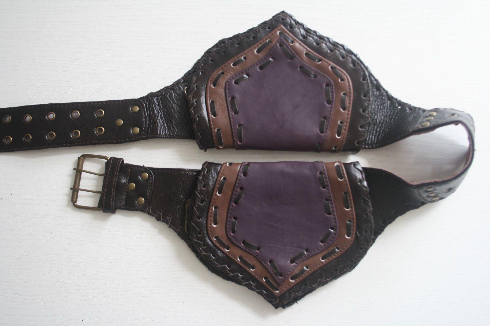 Leder Gürteltasche Bauchtasche Festivalbag Goa Hüfttasche
