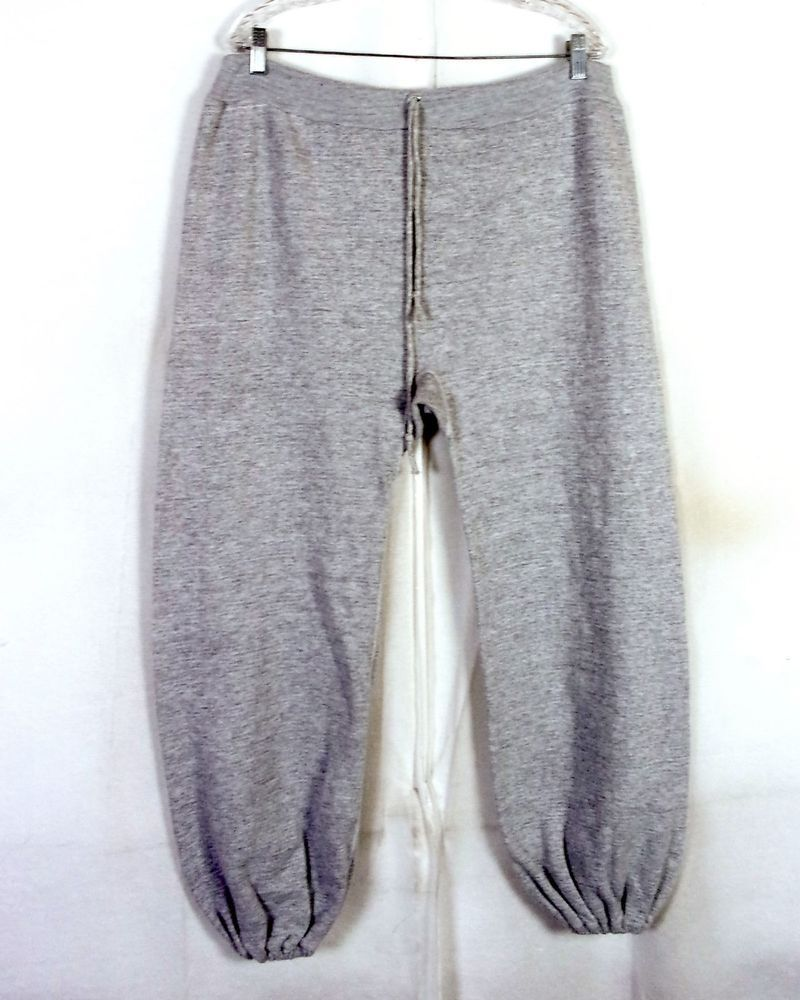 vtg 70s retro Heather Gray Men's Gusset Crotch Sweatpants Sweats ...