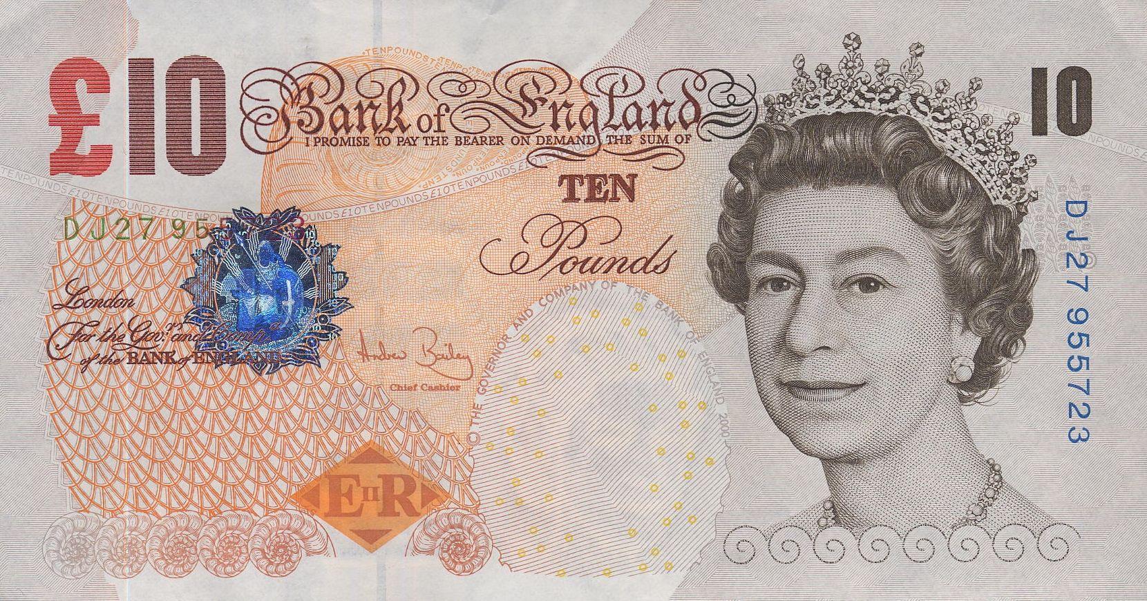 BRAND NEW 2000 10 POUND BANK OF ENGLAND NOTE 1 NOTE** LJ PREFIX