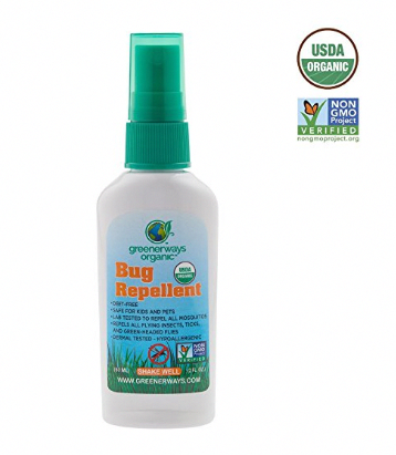 Greenerways Organic Mosquito Insect Repellent Travel Size