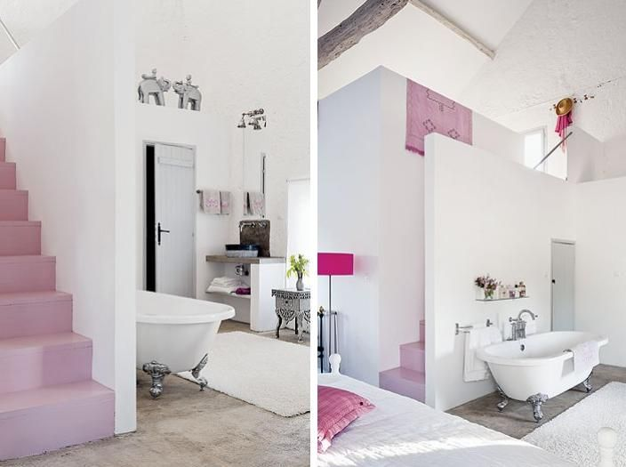Virlova style home un granero en blanco con escalera rosa ideas en rosa pinterest - Virlova style ...