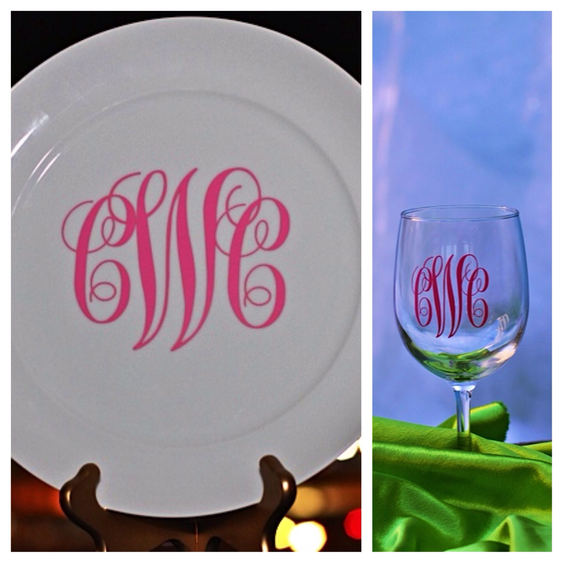 Monogram Plates And Glasses Are A Southern Girl S Rite Of