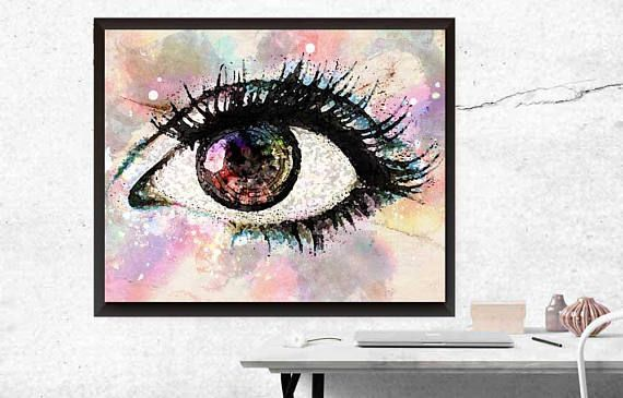 Eye Artwork Doctor Office Optrometrist Wall Art Eyeball Prints Optometry Evil E