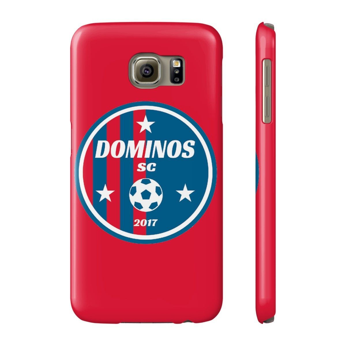Dominos Soccer Club Phone Case for iPhone and Galaxy Models - Red