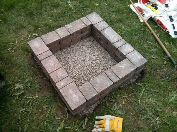 How To Build A Square Fire Pit Diy Fire Pit Square Fire Pit Outside Fire Pits