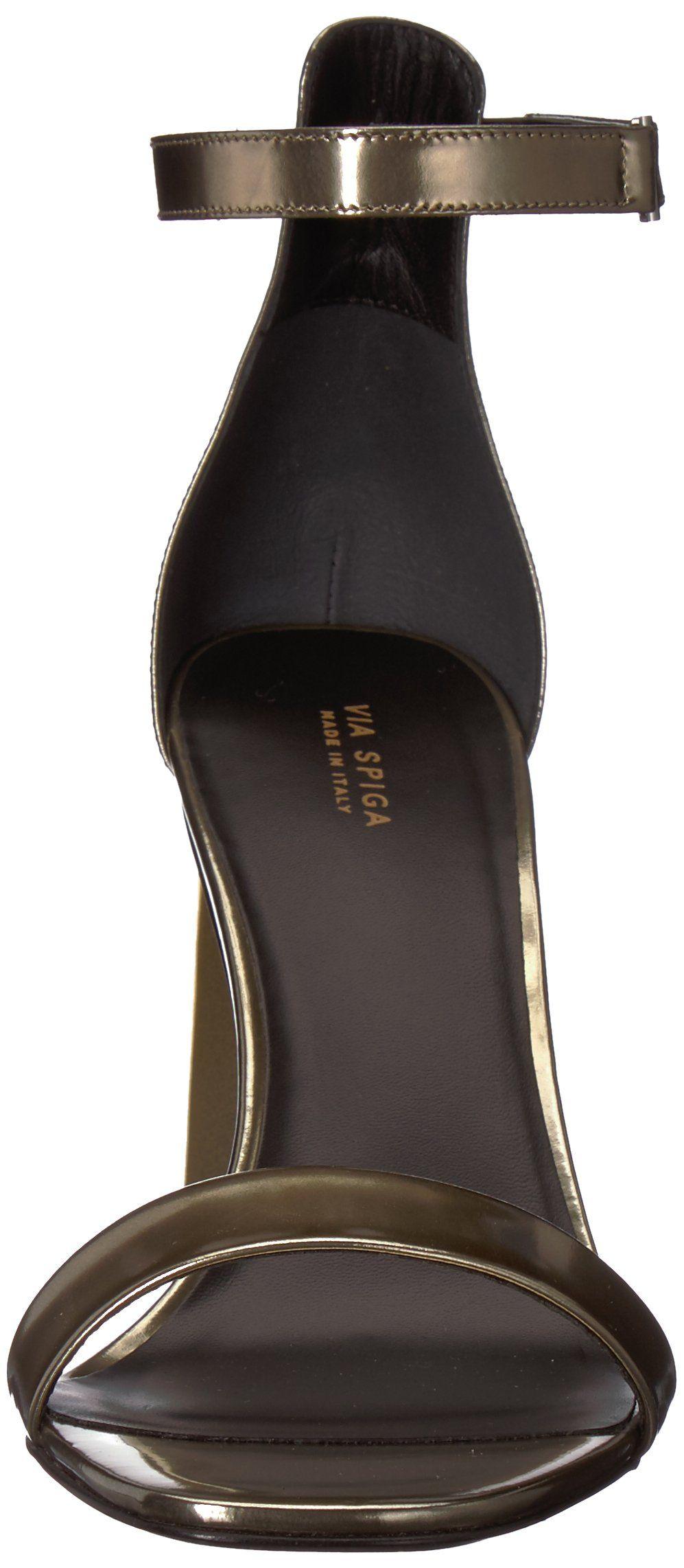 c4c1b3a5a4d Via Spiga Womens Faxon Angular Heeled Sandal Copper Leather 6.5 ...