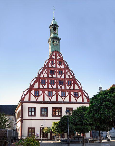 the theatre in Zwickau, Germany. Schöne deutsche städte