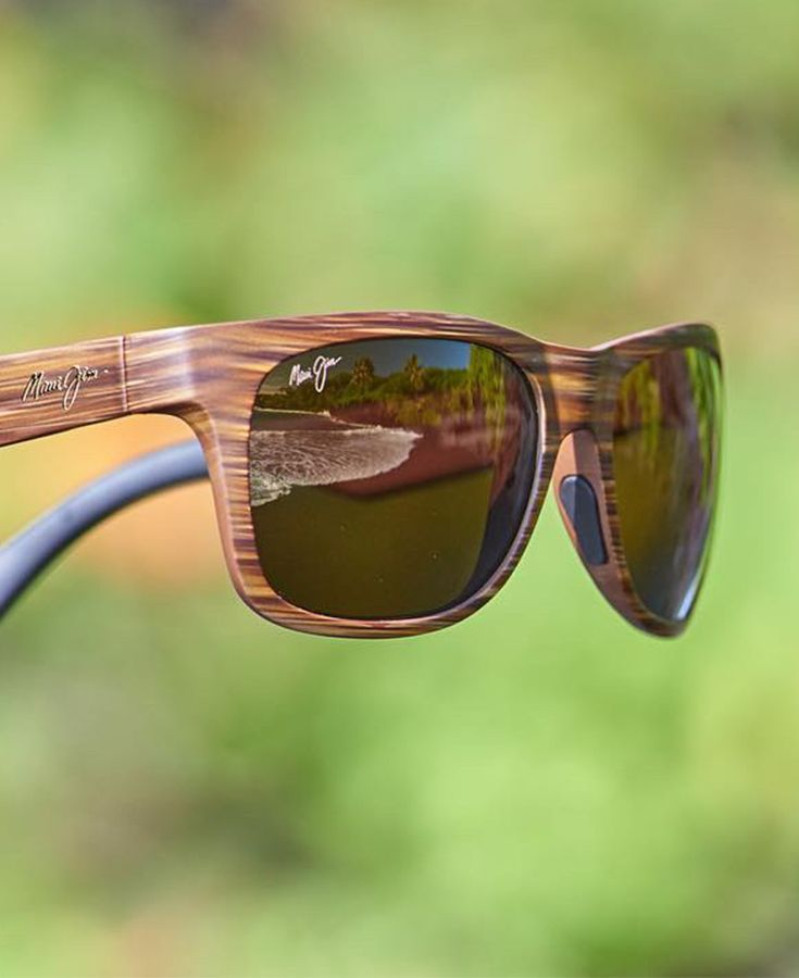 Show off your natural style in unique, wood-grain Maui Jim Kahi sunglasses. bdc571e031