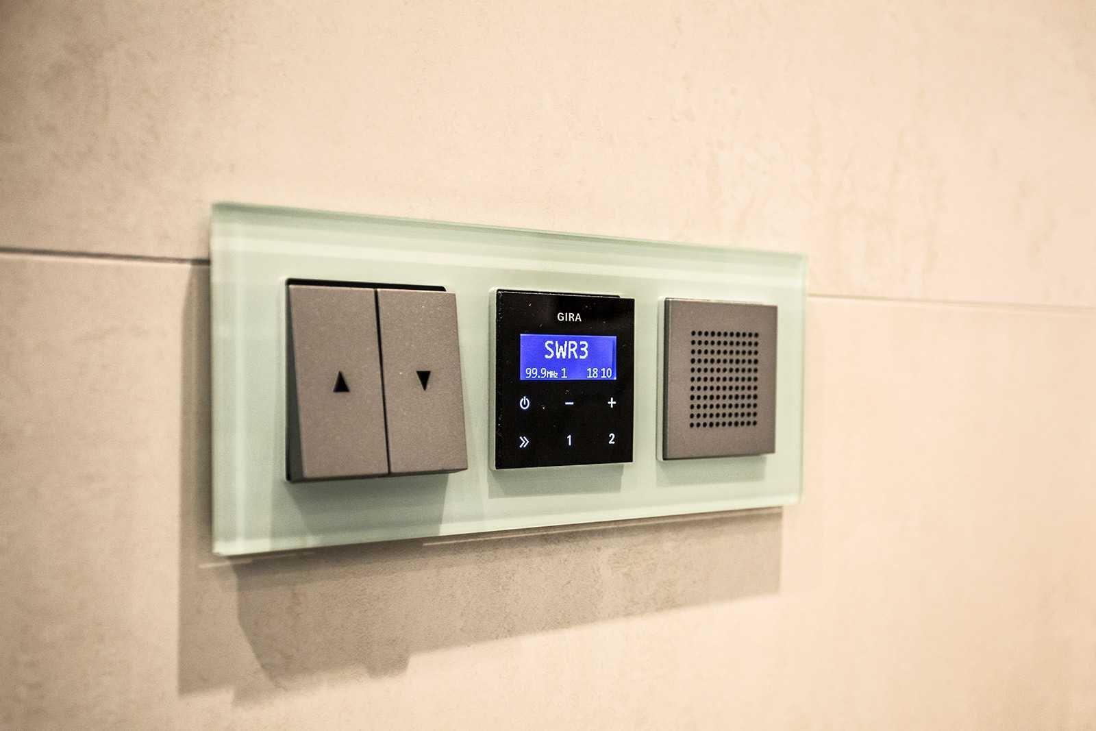 Radio Badezimmer | Integriertes Radio Mit Display Und Lautsprechern Furs Badezimmer