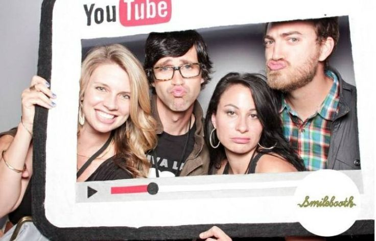 rhett link and their wives christy and jessie rhessie and listy