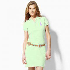 b3f78699d2c98 Big Pony Polo vestido de luz verde