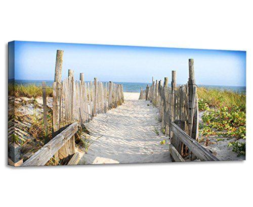 Youkiswall Art Beach Themed Driftwood Beach Path Canvas Print For