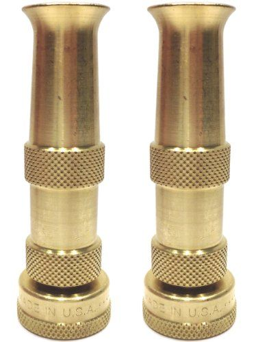 Hose Nozzle High Pressure For Car Or Garden U2013 Solid Brass Fittings U2013 Made  In USA U2013 Set Of 2 Nozzles U2013 Lifetime Guarantee U2013 Adjustable Water Sprayer  From ...