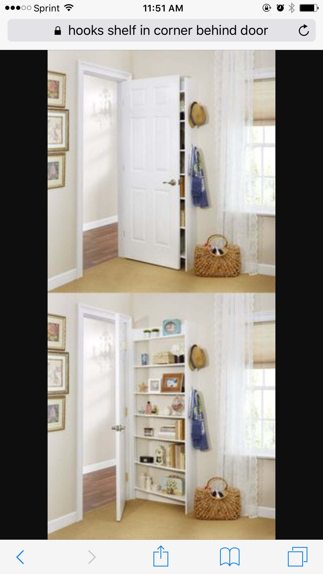 Behind Door Storage Espacos Pequenos Interiores Decoracao De Casa