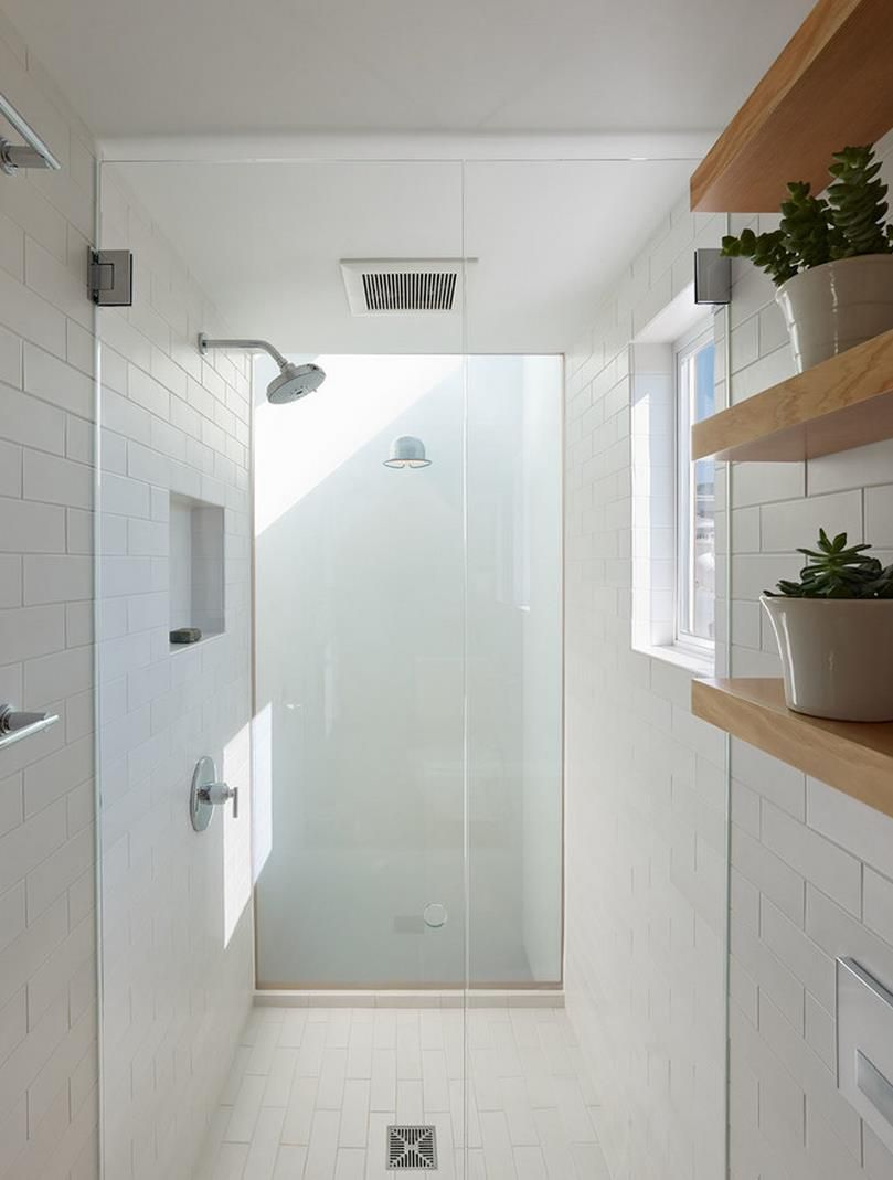 Sparkling White Shower With Gl Doors