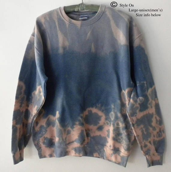 Gray Crewneck Sweatshirt, Acid wash sweatshirt, dip dye crewneck sweatshirt, tie dye, Grunge, tie dye, sweater, jumper, hipster, boho, retro
