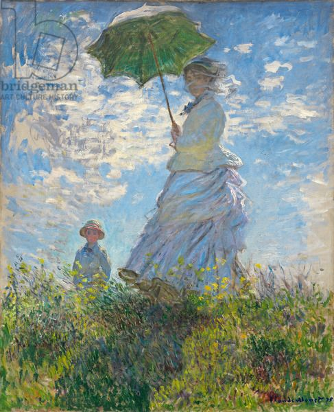 Woman with a Parasol - Madame Monet and Her Son, 1875 (oil on canvas), Monet, Claude (1840-1926) / National Gallery of Art, Washington DC, USA / Bridgeman Images