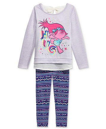 61f2b3f9e DreamWorks Trolls Layered-Look Tunic & Leggings 2 pc. Set, Toddler Girls  (2T-6X)   macys.com