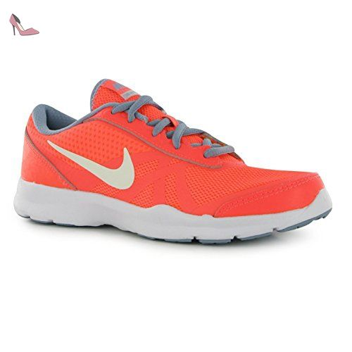 NIKE Core Motion en maille Formation Chaussures Femme Mangue/Platine Gym  formateurs Sneakers, Mango