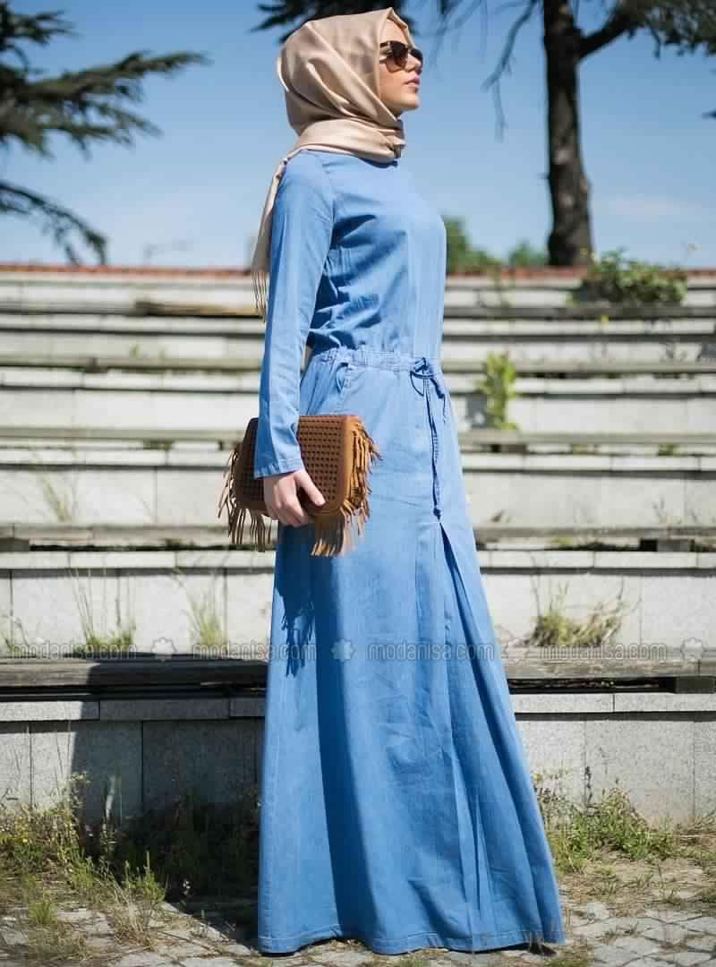 Robe jean hijeb