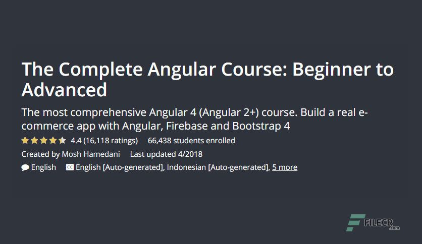 Free Download Udemy - The Complete Angular Course: Beginner to