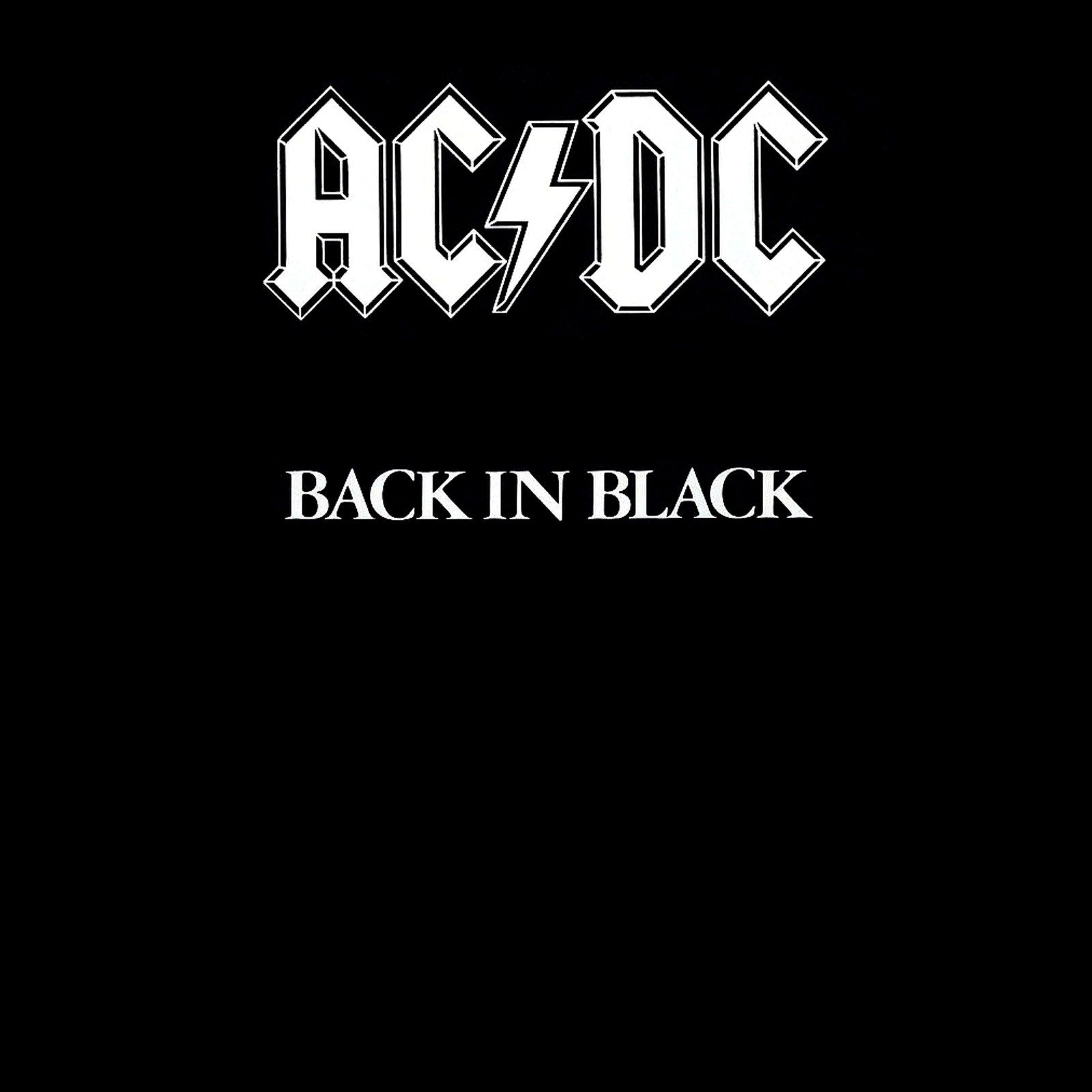 Ac Dc Back In Black Album Cover Acdc Album Covers Acdc Back To
