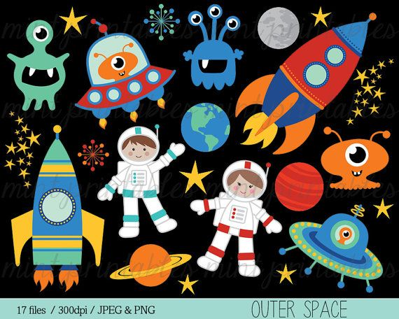 Space clipart rocket clipart spaceship rocketship for Outer painting design