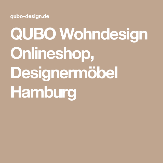 Designermöbel Hamburg qubo wohndesign onlineshop designermöbel hamburg